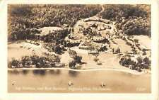 Seigniory Club Quebec Canada Boat Harbor Real Photo Antique Postcard K30391