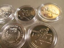 (5) 1994 World Cup 50C Commemorative In Plastic Round Proof 5 Coins