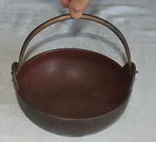 "Vintage 7.1/4"" Cast Iron Round Pot-Belly Cauldron with swivel handle 6906 18"