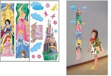 GIRL GROWTH CHART HEIGHT MEASURE BEEDROOM WALL STICKERS DECOR Princess FREE POST