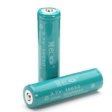 2PCS MECO 3.7v 4000mAh Protected Rechargeable 18650 Li-ion Battery
