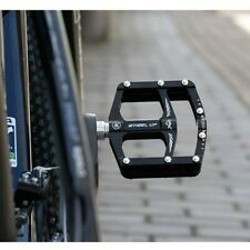 1 Pair Aluminum Alloy Bicycle Pedals MTB Mountain Bike Bearing Platform Black