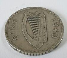 1940 Irish Florin coin 2s Eire 75% Silver (ref 3)