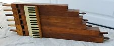 Antique Wooden 6 Tube Pipe Organ Wall Sculpture w/Keys