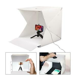 Luz LED Caja 40cm Fotografía Foto Estudio Portátil Tienda Backdrop Lighting Cubo