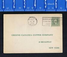 Greene Cananea Copper Company, New York - 1920 Business Postcard