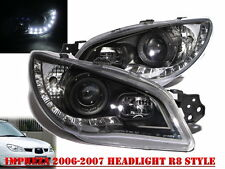 Impreza 2006-2007 06-07 Projector HEADLIGHT DRL LED R8 WRX STI Black for SUBARU