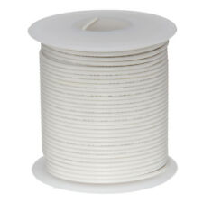 """26 AWG Gauge Stranded Hook Up Wire White 100 ft 0.0190"""" PTFE 600 Volts"""