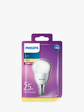 4 x Philips Golf E14/SES 4w=25w 250lm Warm white Non Dimmable