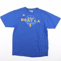 ADIDAS GOLDEN STATE WARRIORS NBA Blue Baseball T-Shirt Size Men's XL