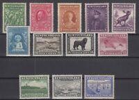 AN5419/ NEWFOUNDLAND – SG # 209 / 220 COMPLETE MINT MH – CV 110 $