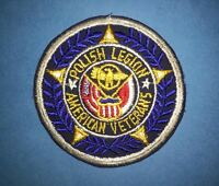 Rare Vintage 1960's Polish Legion Of American Veterans Jacket Patch Crest