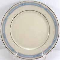 Lenox Courtland Bread and Butter Plate Blue Band Platinum Trim 6.5""