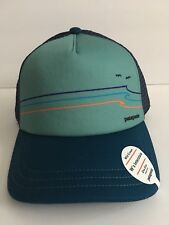 Patagonia Tide Ride Sur Blue Multi Color Trucker Hat Womens OS Snapback NEW!
