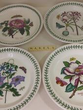 PORTMEIRION ~BOTANIC GARDEN - MAGNOLIA LILY CLEMATIS PEONY~ dinner plates x 4