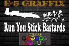 Anti Stick Family Run You Stick Bastards A-10 Warthog vinyl decal car boat