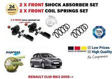 pour RENAULT CLIO MK3 2005- > 2 x Jeu d'AMORTISSEUR AVANT + 2 Ressort Suspension
