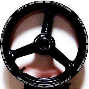REFLECTIVE SILVER GP STYLE RIM STRIPES WHEEL DECALS TAPE STICKERS Kawasaki Ninja