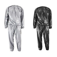 2X(Heavy Duty Fitness Weight Loss Sweat Sauna Suit Exercise Gym Anti-Rip Y1A3)