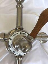 VOLEVATCH BISTRIOT BATH SHOWER MIXER, WALL MOUNTED, MATT NICKEL FINISH