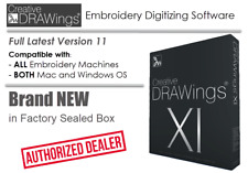 Creative Drawings Xi 11 Embroidery Machine Digitizing Software | Be Artistic Wow