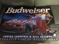 "1994 Junior Johnson & Bill Elliott BUDWEISER Racing Poster 20"" X 28"" w/Bud Girls"