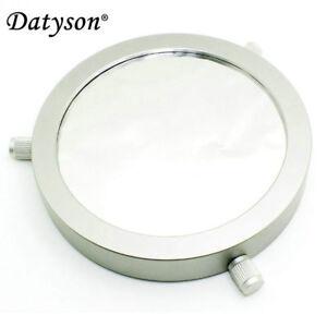 Deluxe Solar Filter 100mm Adjustable Metal Cap for Telescope 70-92mm Lens Hood
