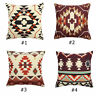 Aztec Geometric Abstract Cotton Linen Cushion Cover Throw Pillowcase Home Decor