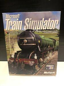 Microsoft TRAIN SIMULATOR  PC CD-ROM NEW SEALED Big Box