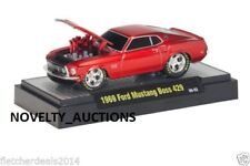M62 81161 01 M2 MACHINES GROUND POUNDERS 1969 FORD MUSTANG BOSS 429  RED 1:64
