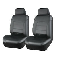 Universal 2 Front Black Car Seat Cover Leather fit for Holden Toyota Suzuki Jeep