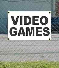 2x3 VIDEO GAMES Black & White Banner Sign NEW Discount Size & Price FREE SHIP