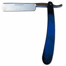 Barber Blue Straight Edge Cut Throat Salon Shaving Razor Blade Stainless Steel