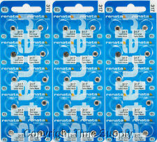 30 Pc 317 Renata Watch Batteries 317 SR516SW 0% MERCURY