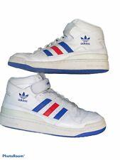 Mens Adidas Forum Mid Refined White/Blue/Silver Originals  F37830 Size 8.5 NIB
