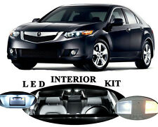 LED Package - Interior + License Plate + Vanity for Acura TSX (14 pieces)