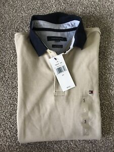 Tommy Hilfiger Beige Mens Polo Shirt (S)