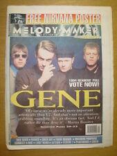 MELODY MAKER 1994 NOVEMBER 5 GENE NIRVANA MANICS GREEN DAY SHED 7 MANICS