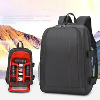 Waterproof Digital DSLR Camera Backpack w/ Rain Cover Laptop 15.6inch Case