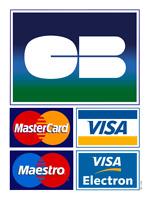 Autocollant Adhésif Stickers Carte bancaire CB Master Card Visa Commerce Vitrine