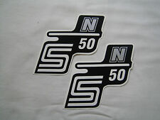 Schriftzug (Folie) Simson S50 N silber