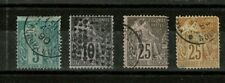 FRENCH COLONIES Sc 49, 50, 53, 54 USED