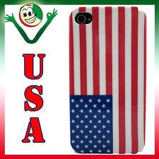 Custodia per iPhone 4 4S  Flag Bandiera USA STATI UNITI aderente back cover slim