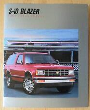 CHEVROLET Blazer S-10 1988 prestige deluxe brochure catalog - Tahoe & Sport