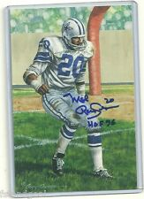 MEL RENFRO AUTOGRAPHED SIGNED CLASS OF 1996 GOAL LINE ART DALLAS COWBOYS HOF