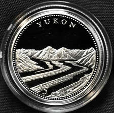 1992 Canada 25 cents Proof Silver Coin - Yukon
