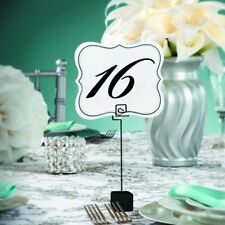 TABLE NUMBER CARDS 1 to 25 double sided David Tutera Bridal Wedding Party