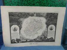 GRAVURE ATLAS NATIONAL ILLUSTRE 1850 DEPARTEMENT DU LOT CAHORS