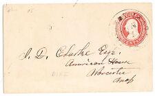 "U.S. Postal Stationery: used 1853 Nesbitt First Issue-UPSS#1 (Scott#U1)-""DPO"""