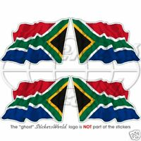 """SOUTH AFRICA Flying Flag S.AFRICAN 50mm (2"""") Vinyl Bumper Stickers Decals x4"""